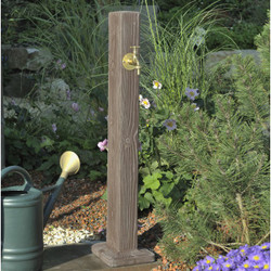 Watering Post - Walnut Wood Effect.