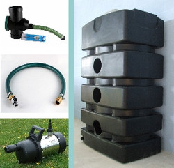 Space Saving Rainwater System with SteelPump - other options available