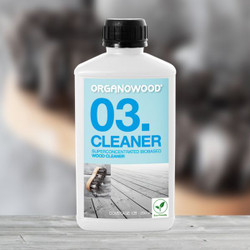 Organowood 03. Super concentrated biobased wood cleaner.