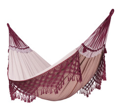La Siesta - Bossa Nova Bordeaux - Kingsize Hammock in Organic Cotton