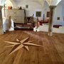 Auro 125 was used to protect the inlaid wood compass design on this beautiful wooden floor.