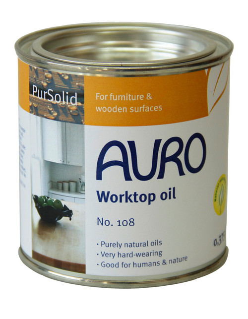 Auro 108 Natural Worktop Oil (375ml).