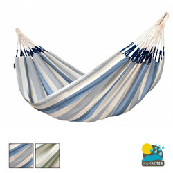 Brisa Double Hammock from La Siesta. Weather Resistant Hammock. Muted Stripes