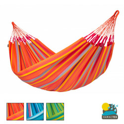 Brisa Large Hammock from La Siesta. Weather Resistant Hammock. Bright Stripes
