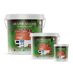 Graphenstone Filler Paint is available in three sizes: 1L, 4L and 15L.