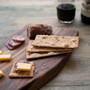 Osmo Top Oil Clear (3058) protecting this Walnut Cheeseboard made by Wood&Faulk.