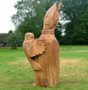 Sculptures in wood protected with Osmo UV Protection Oil (clear 410) by Paul Clarke, Aberporth.