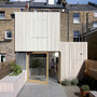 Natural Oil Woodstain (900 White) on larch cladding by Hayhurst & Co Architects.