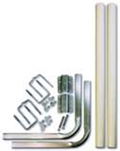 Heavy Duty Tube PVC Guide Post Kit To Fit Aluminum I Beam