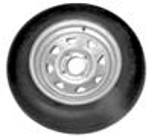 ST17580D13 LRC Tire on 4 lug Galvanized Trailer Rim