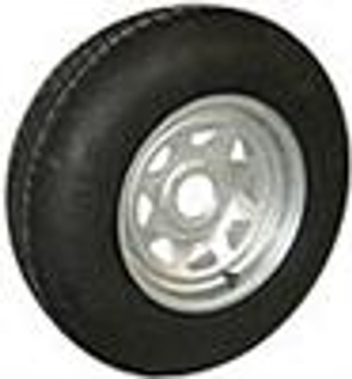 ST22575D15 LRC Tire on 5 on 4.5 Galvanized Trailer Rim