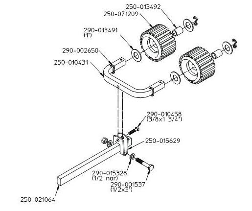 EZ LOADER Roller Assembly with Multi-Head