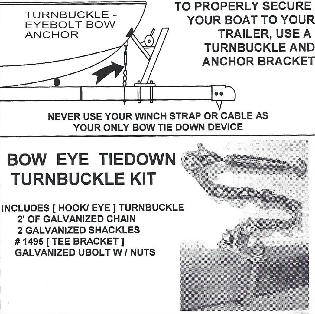 Tie Down Turn Buckle Kit - Secure your boat - Champion Trailers
