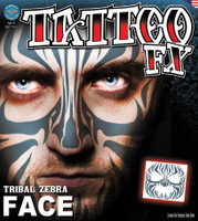 TATTOO-TRIBAL ZEBRA FACE FX