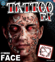 TATTOO CYBORG FACE FX