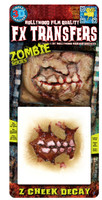 ZOMBIE CHEEK DECAY 3D FX TRANSFERS