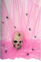 Pink spider web