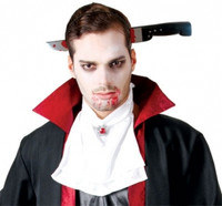 zombie knife thru head-buy Halloween props