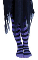 STRIPY WITCHES TIGHT CHILD PURPLE/BLACK