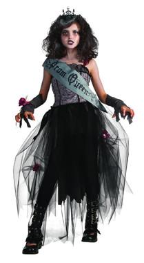 girls gothic prom queen costume