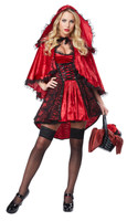 Womens little red riding hood fancy dress