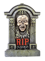 Halloween animated tombstone