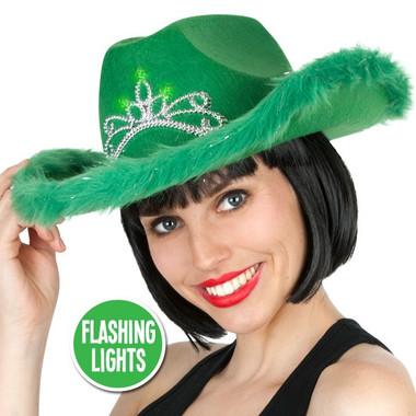 Green cowboy hat