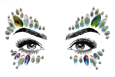 Costume face jewels