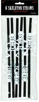 Halloween skeleton straws
