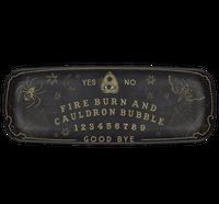 Ouija board plate