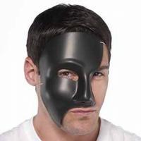 half mask black