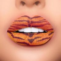 tiger lip tattoo