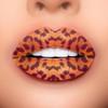 cheetah lip tattoo