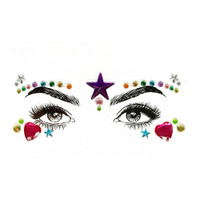 rainbow festival makeup