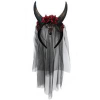 Black horned veil