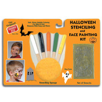 HALLOWEEN STENCIL AND FACE PAINTING KIT