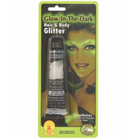 GLOW IN THE DARK HAIR AND BODY GLITTER