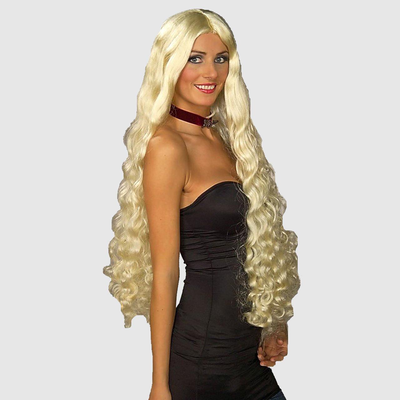 Long blonde fancy dress wig 719cab7f3ea0