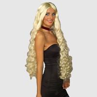 Long blonde fancy dress wig