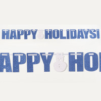 HAPPY HOLIDAYS - GLITTER BANNER