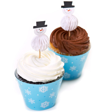 SNOWFLAKE CUPCAKE WRAPPERS AND PICKS