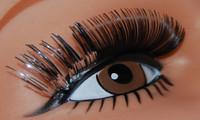 silver eyelashes