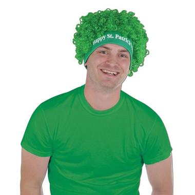St Patricks day green wig