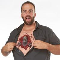 alien chestburster illusion prank costume