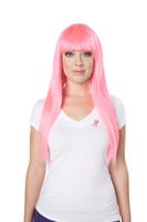 fancy dress pink wig