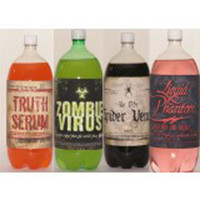 HALLOWEEN SOFT DRINK LABELS