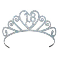 18th BIRTHDAY METAL GLITTERED TIARA