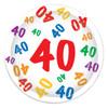 40th birthday tableware