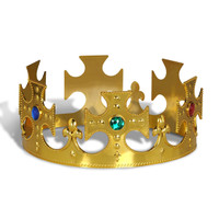 GOLD PLASTIC KINGS CROWN