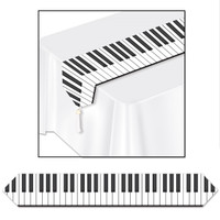 PIANO KEY PRINTED TABLE RUNNER